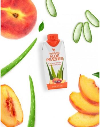 aloes do picia brzoskwiniowy Forever Aloe Peaches mini
